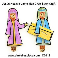 Jesus Heals the Lame Man Craft Stick Bible Craft for Sunday School www.daniellesplace.com