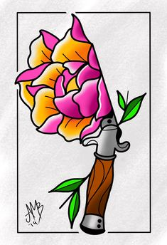 a6a8a475f2ece Digital Neo Traditional Peony I have available. Bonanducci570_tattoos · Art  and Flash