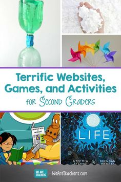 If you're looking for great first grade websites for practicing reading, math, science, and social studies skills, look no further! 2nd Grade Activities, Word Work Activities, Hands On Activities, Science Activities, Writing Activities, Science Art, Science Experiments, Second Grade Writing, Second Grade Science