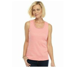 "Sleeveless top Blush pink Made in USA 90% Nylon 10% Spandex  Great by itself or for layering  24"" length  17"" across armpit to armpit  Stretchy Material   Thank you for stopping by my closet. Rest assured all items are inspected prior to shipment along with taking pictures of items to ensure that they are free of stains, rips, bad odors and in excellent condition. I generally ship same day. I strive to provide excellent service to my customers. Blessings  ;-) Kim Rogers Tops"