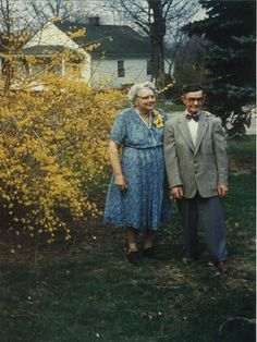 Grandma and Grandpa Anderson