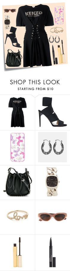 """Kenzo Flare Dress..**"" by yagna ❤ liked on Polyvore featuring Post-It, Kenzo, Paul Andrew, Kate Spade, Avenue, Valentino, DKNY, EF Collection, RetroSuperFuture and Stila"