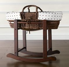 Moses Basket Stand | Moses Basket Bedding | Restoration Hardware Baby & Child