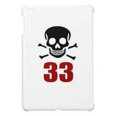 #33 Birthday Designs iPad Mini Covers - #giftidea #gift #present #idea #number #33 #thirty-third #thirty #thirtythird #bday #birthday #33rdbirthday #party #anniversary #33rd