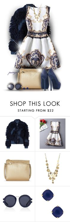 """Golden Blue Floral"" by rockreborn ❤ liked on Polyvore featuring 3.1 Phillip Lim, Reed, Kenneth Cole, Karen Walker and Kate Spade"