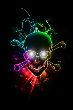 Glowing Skull by chemikal-graphix
