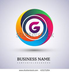 G letter colorful logo in the circle. Vector design template elements for your application or company identity. - stock vector