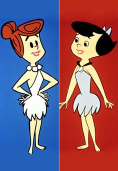 The Flintstones: Anything but the stone ages! Micro-minis, exposed shoulders, and statement necklaces showed off the ladies curves. Paired with architecturally coiffed 'dos and a swipe of red lipstick, Wilma and Betty were perpetually primped and ready to go.