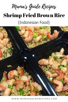 Spicy Recipes, Shrimp Recipes, Asian Recipes, Cooking Recipes, Indonesian Food, Indonesian Recipes, Rice And Peas, Fried Brown Rice, Saute Onions