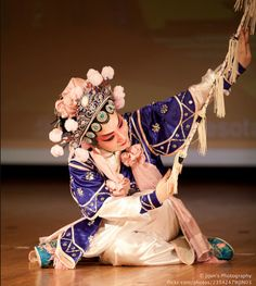 This was taken at a Chinese Opera that I attended.  Such graceful movements and many beautiful poses!!