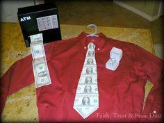 Creative cash gift - make a money tie Creative Money Gifts, Cool Gifts, Diy Gifts, Best Gifts, Money Gifting, Gift Money, Cash Money, Diy Presents, Money Lei