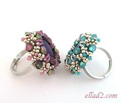 Tutorial Pinch Ring Beading Tutorial Beading Pattern by Ellad2