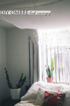DIY // Ombre Bed Canopy — Treasures & Travels