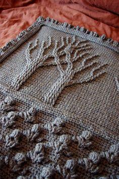 Tree of Life Afghan (crochet) pattern by Lion Brand Yarn #AfghansCrochet