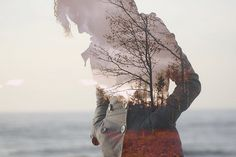 """double exposure selfie.  image by """"our long nights"""" on flickr"""