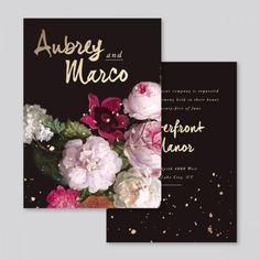 Wedding Invitations / Decadently Dark Florals...