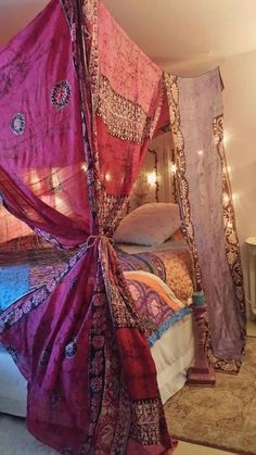 Bed Canopy Bohemian bed canopy Gypsy Bedroom Boho Bedroom 2019 Bed Canopy Bohemian bed canopy Gypsy Bedroom Boho Bedroom The post Bed Canopy Bohemian bed canopy Gypsy Bedroom Boho Bedroom 2019 appeared first on Curtains Diy. Hippie Bedroom Decor, Gypsy Bedroom, Hippie Bedding, Boho Bedding, Pink Bedding, Bedroom Bed, Luxury Bedding, Comforter Sets, Hippy Room