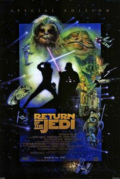 Drew Struzan STAR WARS Episode 6: Return of the Jedi 1983 & 1997 - 736 x 1098