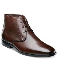 Florsheim Jet Chukka Boots Men - All Men's Shoes - Macy's Mens Shoes Boots, Sock Shoes, Leather Ankle Boots, Men's Shoes, Shoe Boots, Dress Shoes, Male Shoes, Chukka Shoes, Chukka Boot
