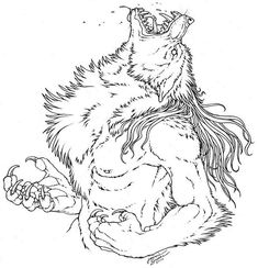 The need to rage. by Emryswolf on DeviantArt Mythological Creatures, Fantasy Creatures, Demon Drawings, Heavy Metal Art, Werewolf Art, Wolf Love, Legendary Creature, Primitive, Coloring Book Pages