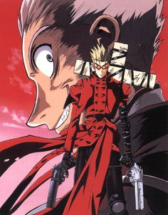 Vash with Knives in the background