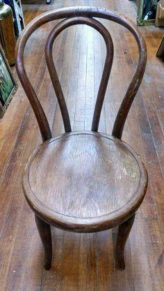 Vintage Kid Child Wood Wooden Round Seat Chair