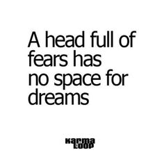 Leave some room for the dreams.
