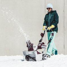 #AkkuSchneefräse Schneeräumen, ohne Anstrengung und ohne Kabel!