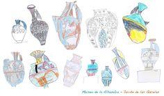 Dibujos de escolares del Jarrón de las Gacelas