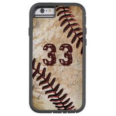 Cool Vintage Baseball iPhone Cases with your Jersey Number or your monogram. CLICK HERE: http://www.zazzle.com/jersey_number_cool_vintage_baseball_iphone_6_cases-179854162414016900?rf=238012603407381242*  New Baseball iPhone 6 cases for men and boys. Teenagers will like the cool dirty baseball phone case. See ALL baseball gifts Zazzle link: http://www.zazzle.com/yoursportsgifts/gifts?cg=196287291800049169&rf=238012603407381242*