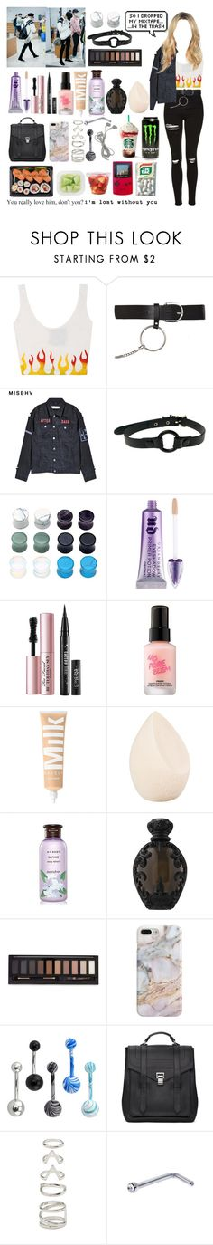 """""""At the airport with Taeyong  (Boyfriend)"""" by vbril ❤ liked on Polyvore featuring Topshop, Misbehave, Club Exx, Urban Decay, Too Faced Cosmetics, Touch in Sol, Christian Dior, Innisfree, Kat Von D and Forever 21"""