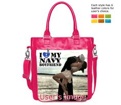 """Upload images to design themed bags """"I Love U.S. Navy"""", and share sailor's glory"""