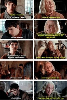 Gaius continually hitting Merlin up with an overload of sass. I loved gaius Merlin Funny, Merlin Memes, Merlin Quotes, Merlin Merlin, Sherlock Quotes, Turn Down For What, Merlin Fandom, Merlin Colin Morgan, Merlin And Arthur