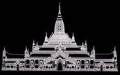 Ananda Temple, Elevation of Facade (via www.seasite.niu.edu)