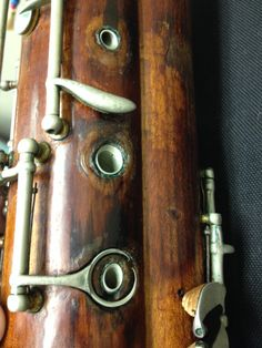 Heckel bassoon, life time of hard work.  100 yr old bassoon, completed in 1913.