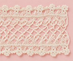 Diy Crafts - Diy Crafts - Crochet Edging And Borders Lace Link Ideas Hairpin Lace Patterns, Hairpin Lace Crochet, Crochet Lace Edging, Crochet Borders, Crochet Chart, Filet Crochet, Diy Crafts Crochet, Crochet Projects, Crochet Designs