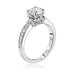 Scott Kay diamond solitaire engagement ring. Available at Spitz Jewelers. https://www.facebook.com/SpitzJewelers  (Scott Kay, SCOT-1423 Faith)