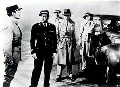 """""""Casablanca"""" Claude Rains as Captain Louis Renault, Humphrey Bogart as Rick Blaine, Ingrid Bergman as Ilsa Lund and Paul Henreid as Victor Laszlo"""
