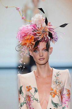 Floral headress! Shoulder pads