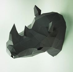 Rhino Head Animal Head Rhinoceros Head Rhino mask