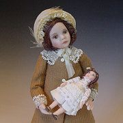 Im an Art teacher by profession and have been making miniature dolls for more than 20 years. My work has been sold mostly at shows in London as well as from my online gallery. My dolls are handcrafted from porcelain and are for adult dollhouse /dollshouse enthusiasts and collectors.