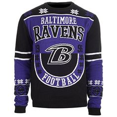 BALTIMORE RAVENS COTTON RETRO SWEATER  http://allstarsportsfan.com/product/baltimore-ravens-cotton-retro-sweater/?attribute_pa_color=baltimore-ravens&attribute_pa_size=x-large  100% Acrylic 100% officially licensed by KLEW Great for ugly Sweater parties