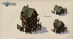 """This is an ingame asset of the game """"The Settlers: Rise Of An Empire"""", the sixth game of the Settlers series. The building has three stages of expansion. The requirement for this asset was to create a medieval looking building with a slight touch of fantasy elements.    Design, modelling and texturing were done by me, though texturing has been a coop work with one of my team mates."""