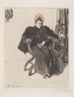 Portrait of Isabella Stewart Gardner, 1894, Anders Zorn (Swedish, 1860-1920), Isabella Stewart Gardner Museum, Boston