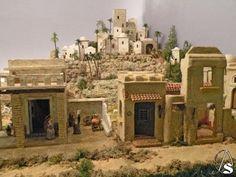 Christmas Crib Ideas, Christmas Stage Design, Nativity House, Christmas Nativity Scene, Fontanini Nativity, Wargaming Terrain, Miniature Houses, Paris Skyline, Miniatures
