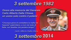 32 anni fa moriva assassinato il Generale Dalla Chiesa. Lasciato solo da tutti Mafia, Black History, Deadpool, Pace, Genere, Smile, Google, Photos, Smiling Faces
