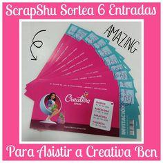 Scrapshu sortea 6 entradas para la creativa Bcn del 27 al 30 de Noviembre!!! Para participar clika en el link y participa. https://www.facebook.com/Scrapshu  Mucha suerte a tod@s!!!! Y nos vemos en Creativa!!!! :)