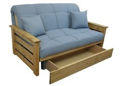 Aylesbury futon style sofa bed with handy storage drawer