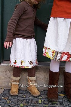 Cute fall skirts and super easy!
