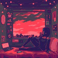 Pixel Art Background, 8bit Art, Pixel Animation, Cyberpunk City, Aesthetic Drawing, Retro Art, Game Art, Art Inspo, Fantasy Art